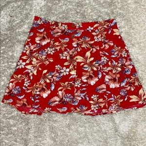 Floral Skirt w/ Pockets